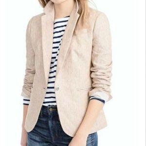 J Crew Campbell 100% Linen Blazer Jacket